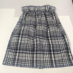 American Eagle Plaid Stripe Dress NWT